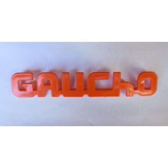 Gaucho felirat narancssárga