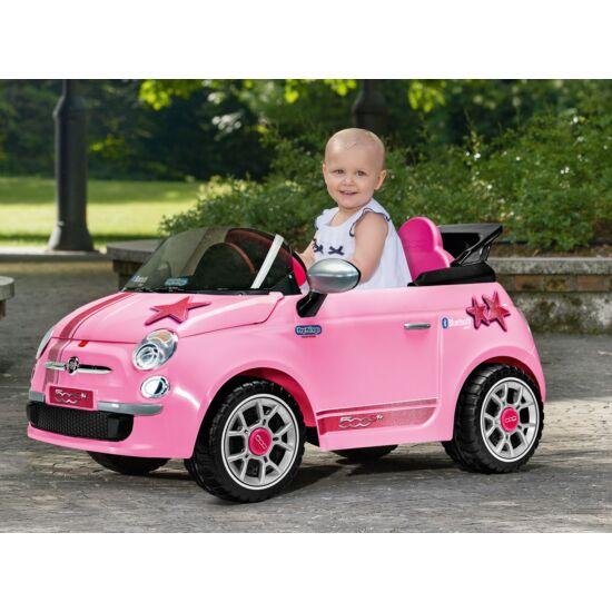 Fiat 500 Pink  6V Távirányítóval - elektromos gyermekautó