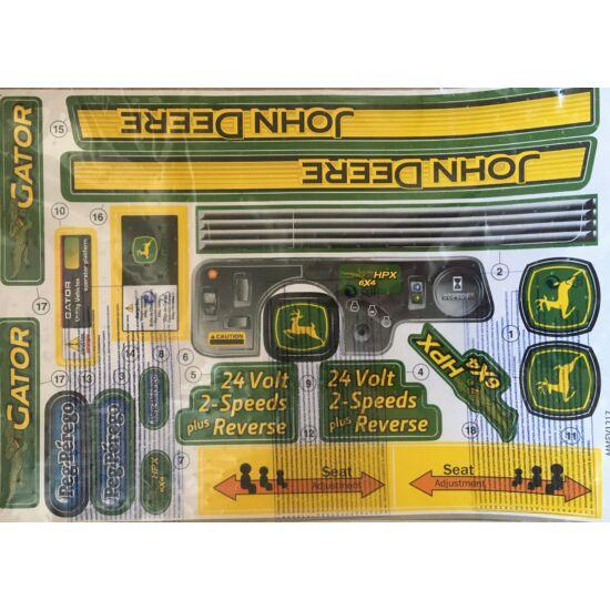 John Deere Gator 6x4 24V matrica